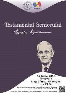Afis Testamentul Seniorului Timisoara